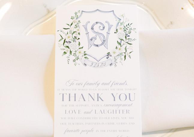 Will + Sarah Thank You Card
