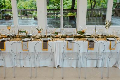 Golden Tablescape