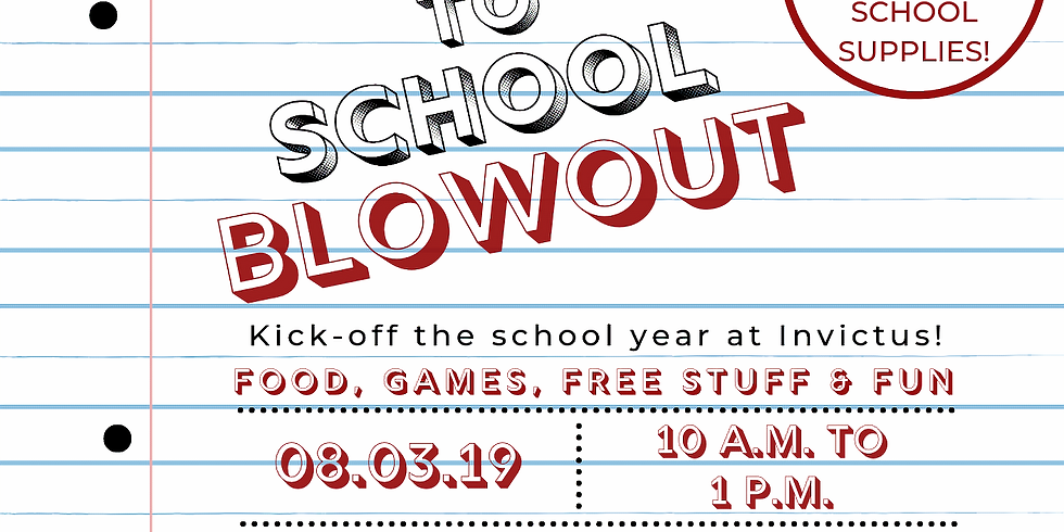 Invictus Back To School Blowout