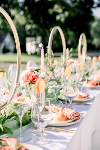 Just Peachy Tablescape
