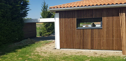 garage - abri voiture bardage claire voie toulouse aureville