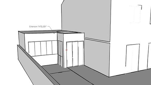 extension atelier artiste verriere