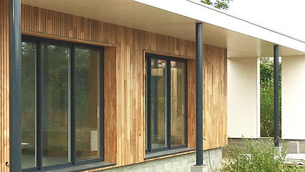 Living extension toulouse bardage red cedar
