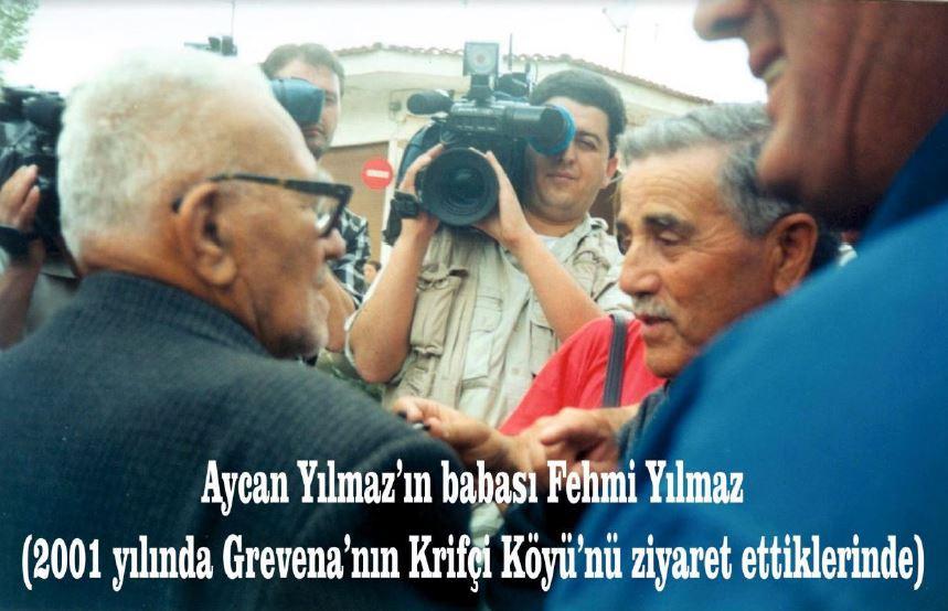 Fotoğrafın solunda Athanasios Kaitanidis ve sağında Fehmi Yılmaz görülüyor.