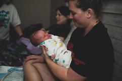 Baby Zavien smiles at Kristy