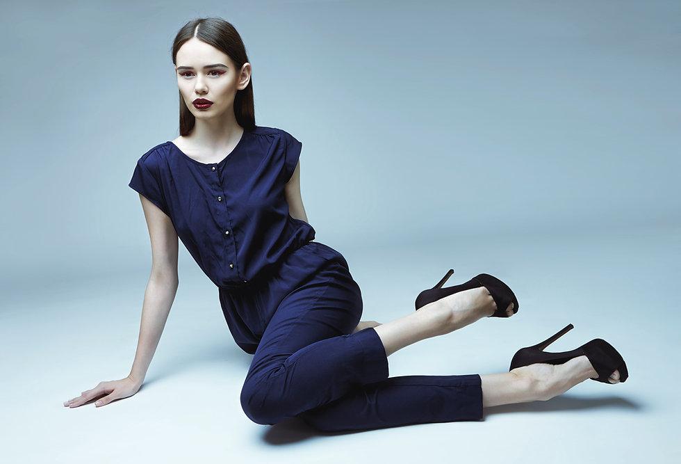 Model In Blue