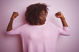 Young african afro woman wearing sweater