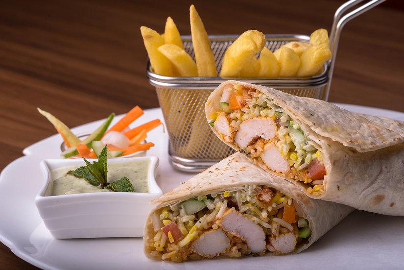 Chicken Biryani Roll