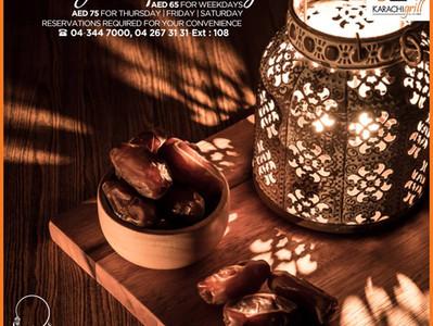 The Holy Month of Ramadan at Karachi Grill Jumeirah 2, Jumeirah beach road, Dubai.