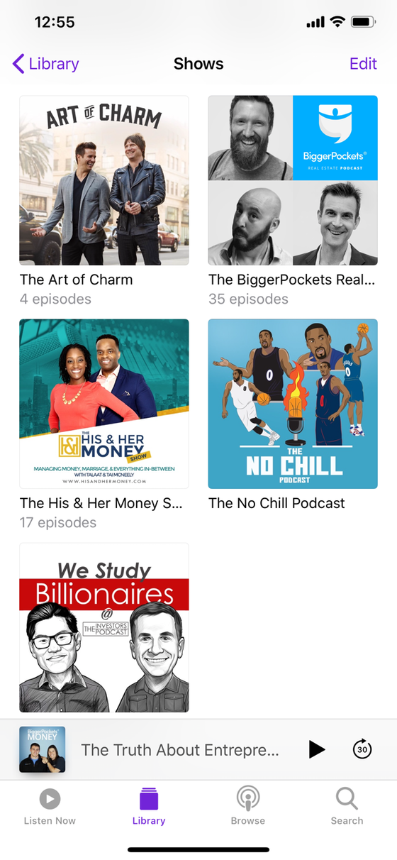 Top 5 Podcast I Listen To!
