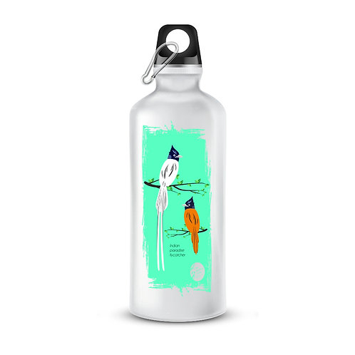 Indian Paradise Flycatcher Printed Bottle