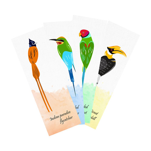 Birds of India Bookmarks (Set of 4)