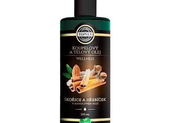 Skořice a hřebíček v mandlovém oleji