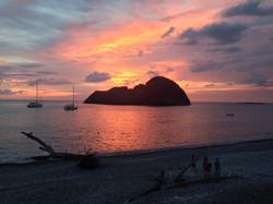 Le Galere al tramonto