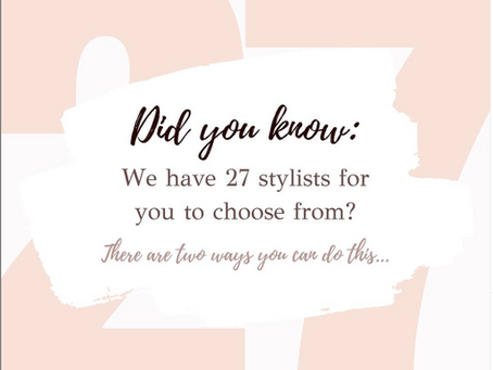 How to choose which stylist out of our 27 bridal hair and makeup specialists