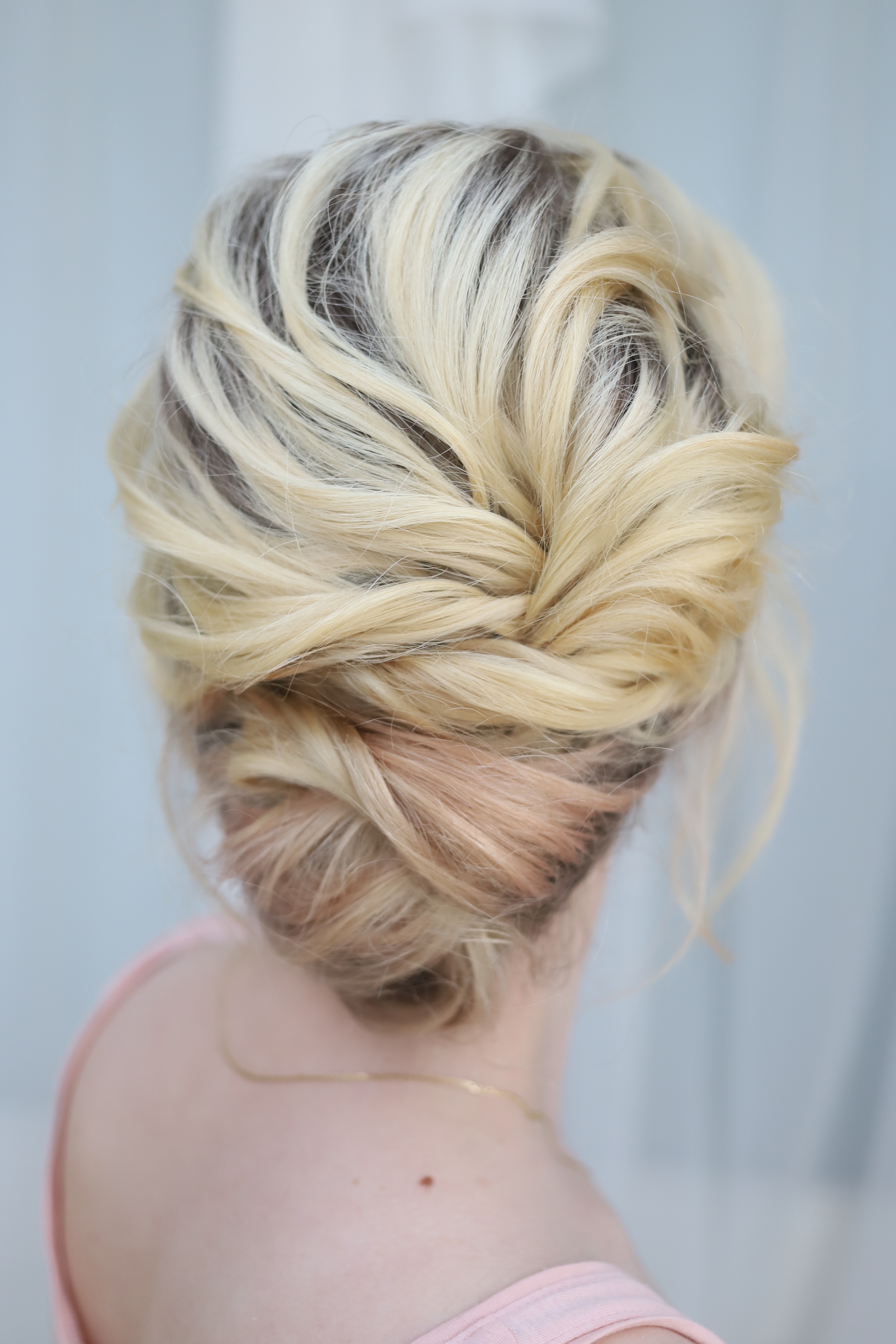 Texured updo