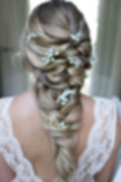 Boho Wedding Hair mermaid braid