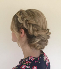 Dutch Braid Up-Do