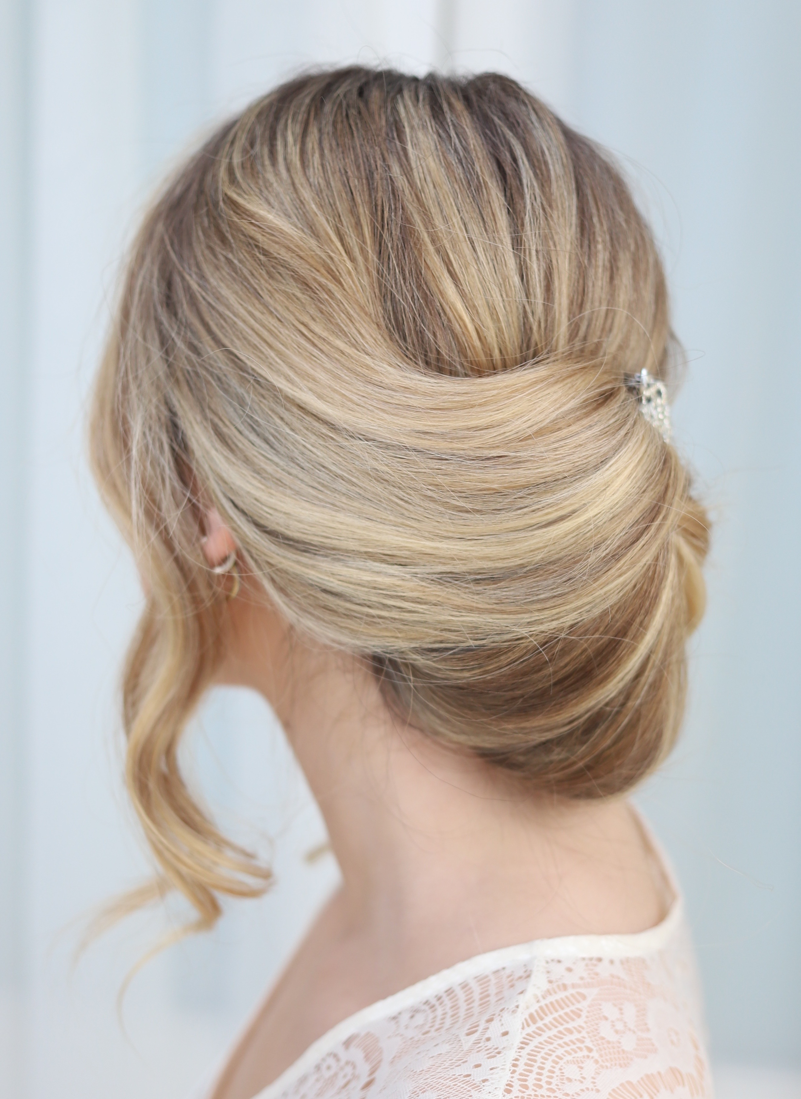 Sleek modern chignon