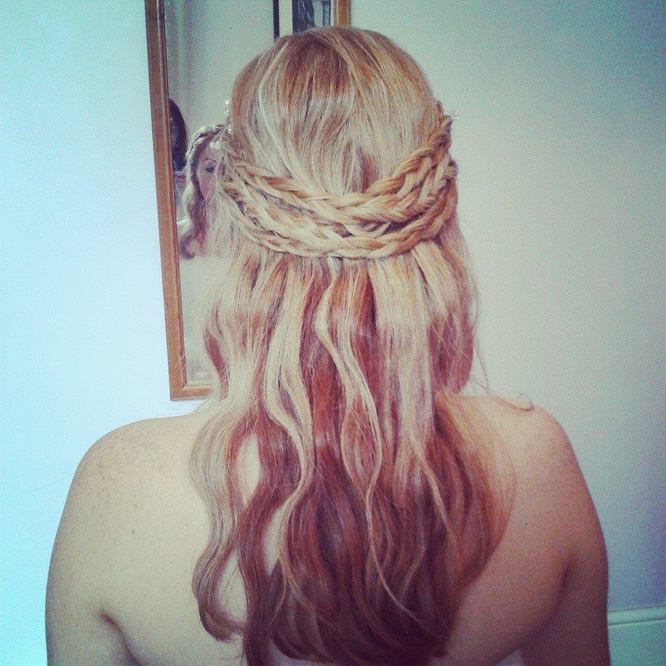 Bridal hair with plaits
