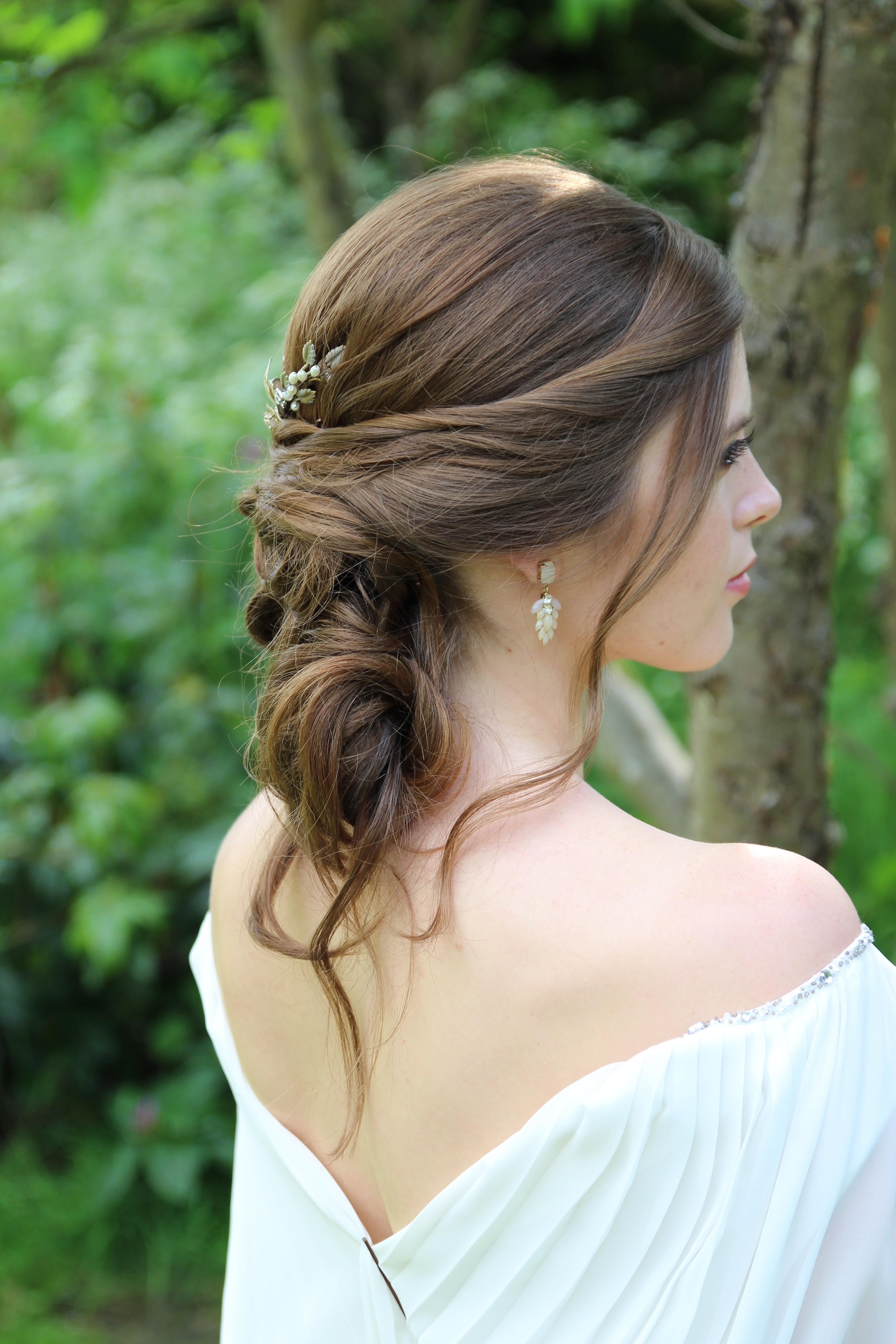 Boho bridal hiar