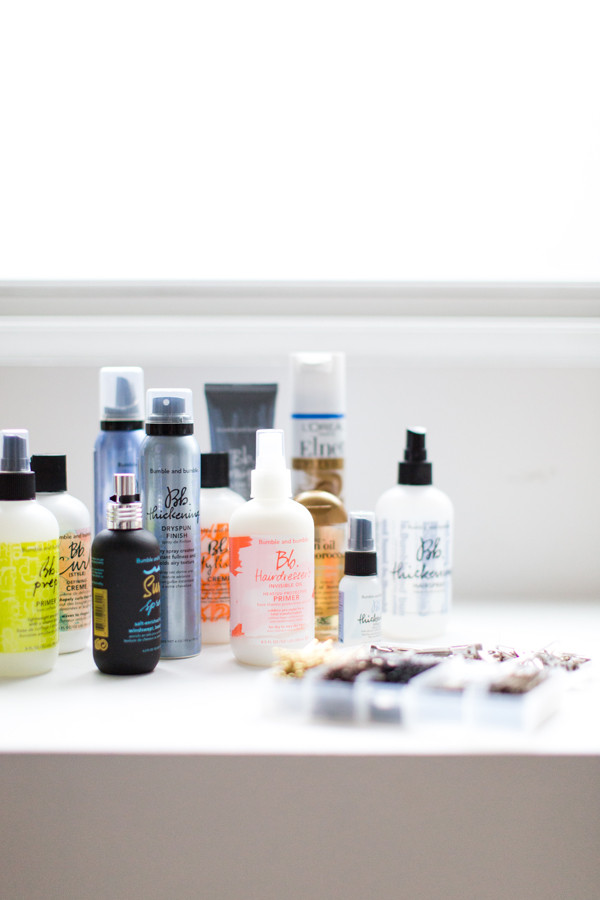 Hair Products used on our courses