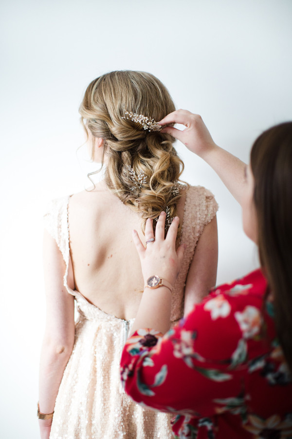 Hair Styling by our Diamond Stylist Jess | Hair pins by Donna Crain
