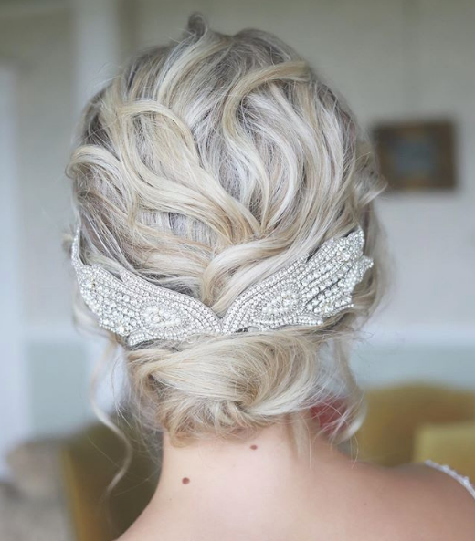 Hair by our creative director Katy | Hair Accessory by Donna Crain