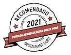 Imagem de um selo de restaurante recomendado por restaurante guru