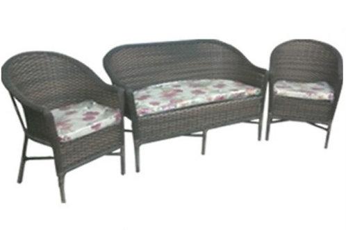 010 - Sofa e duas poltronas