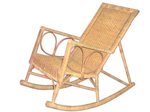 014 - Cadeira de Balanco em fibra e junco