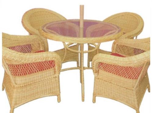 004 -mesa com furo e 4 sofas