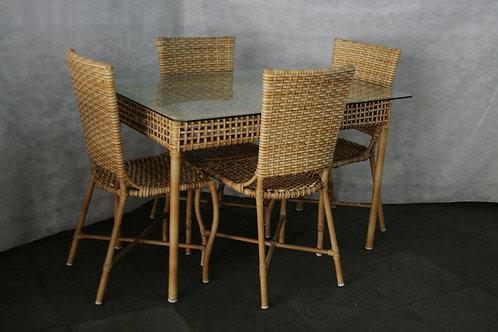 Mesa Retangular Nova York com 4 Cadeiras