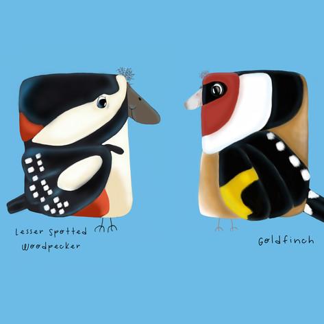Woodpecker and Gold Finch For Karen.jpg