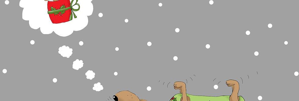 Basil Dreams of Christmas - Pack of Ten Christmas Cards