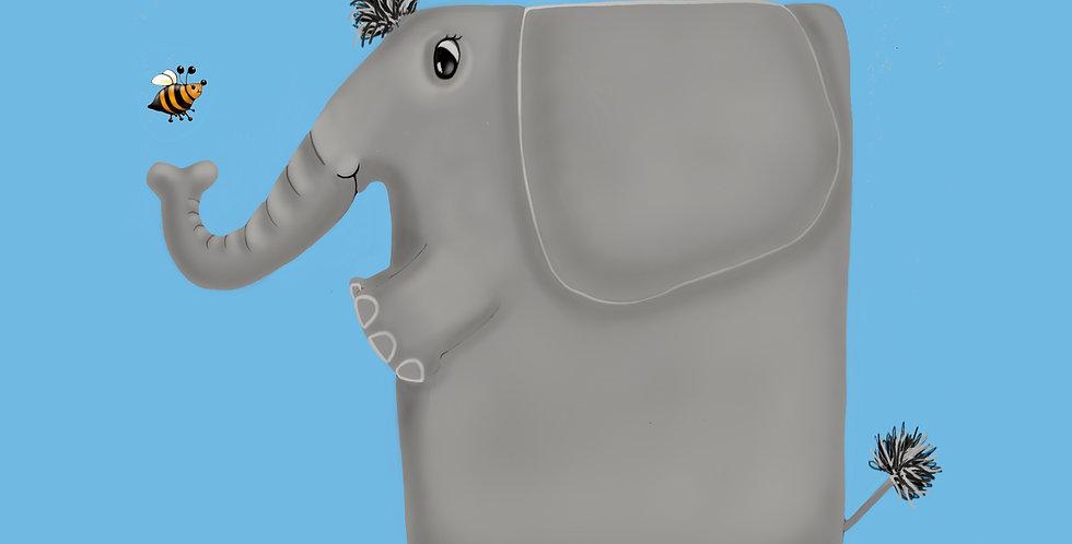 'Elephant' - African Animal Card