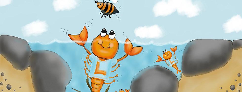 Team Lobster! - Childrens Fine Art Print