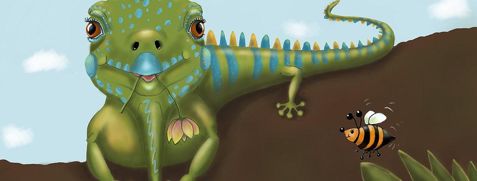 Ian the Iguana - Childrens Fine Art Print