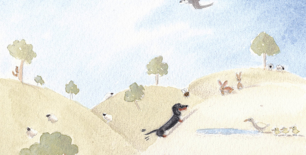 Duncan's Summer Stroll - high quality print