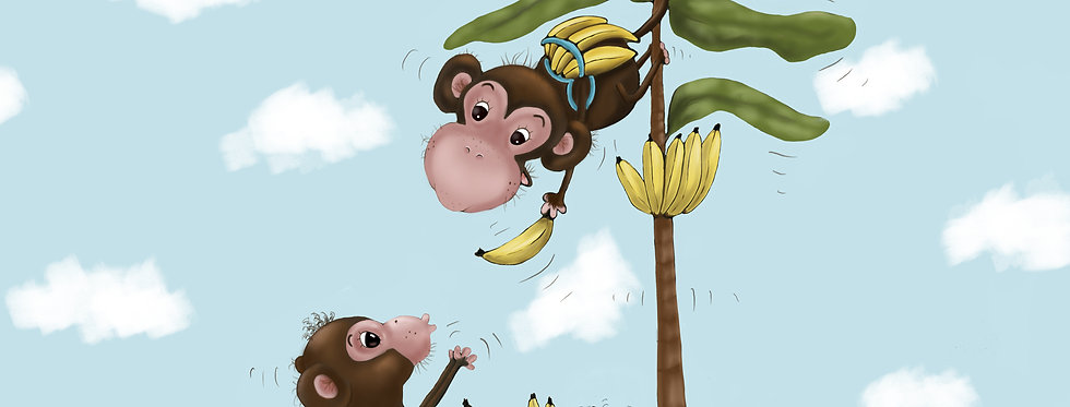 Monkey Business! - Childrens Fine Art Print