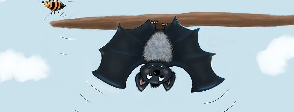 Barry the Bouncing Bat! - Childrens Fine Art Print