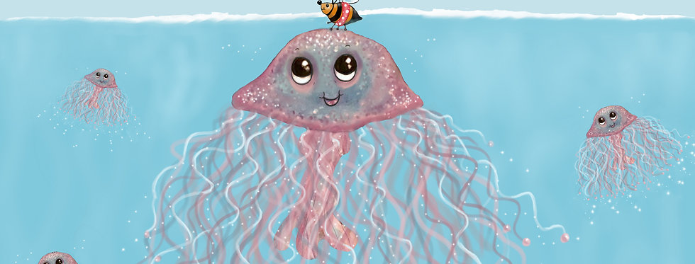 Jingle, Jangle Jellyfish! - Childrens Fine Art Print