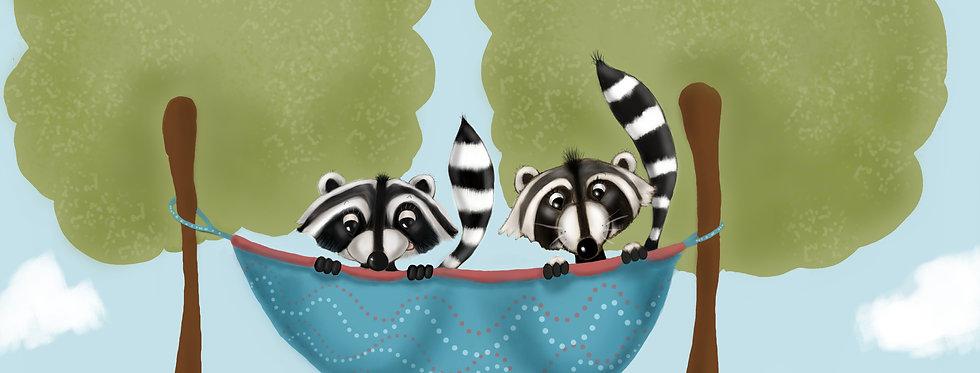 Raccoon Rascals! - Childrens Fine Art Print