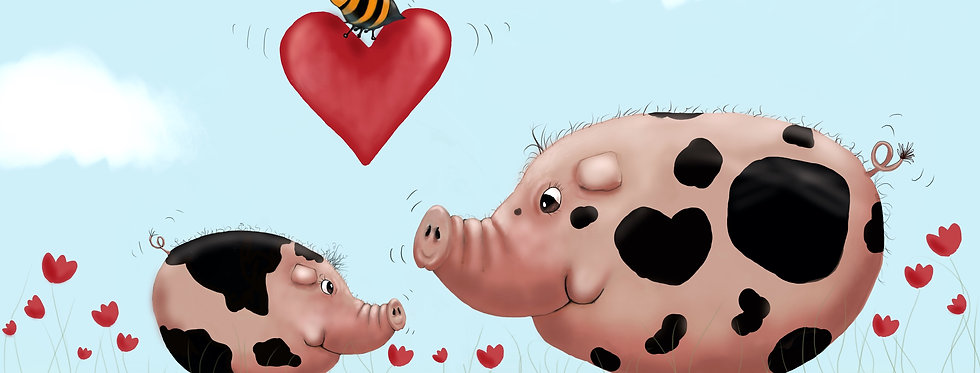 Pig Love! - Fine Art Card