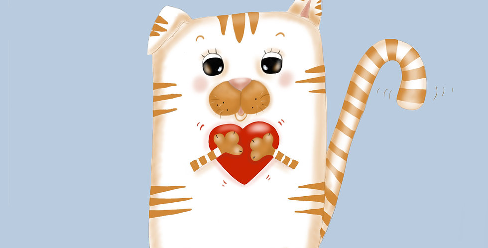 Love Cat! - Fine Art Card