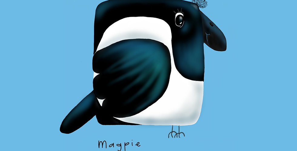 'Magpie' - British Bird Print