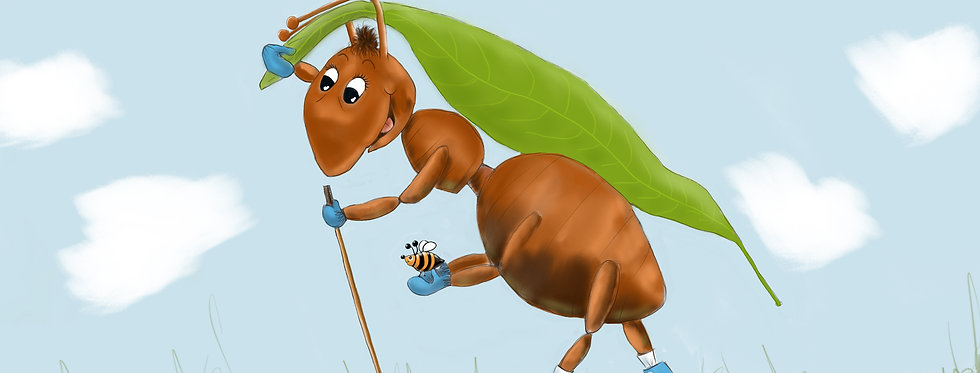 Andy the Action Ant! - Childrens Fine Art Print