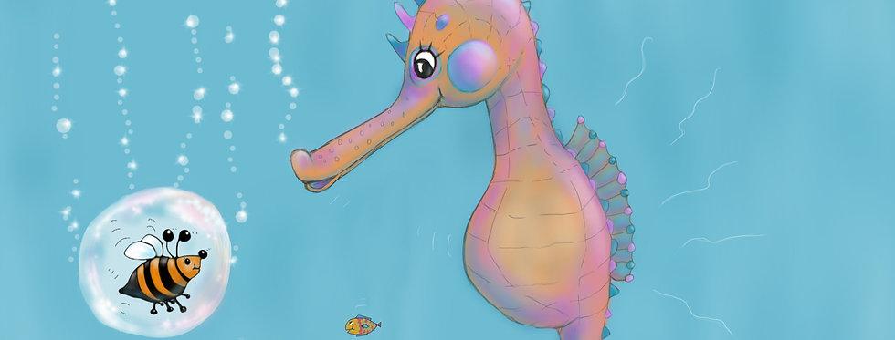 Seahorse Scuba! - Childrens Fine Art Print