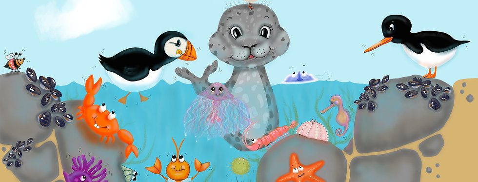 Rockpool Print - A3 or A2 Print to brighten your little ones room!