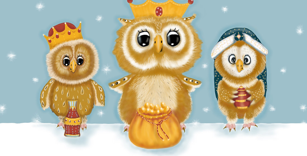 'We Three Kings' - Pack of 5 Christmas Cards